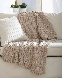 Ravelry Chunky Aran Cable Blanket Pattern By Bernat