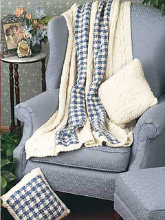Ravelry A Twist On Gingham Throw Amp Pillows Pattern By