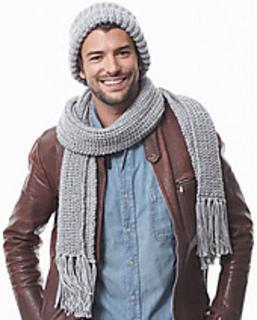 Knitting Pattern For Mens Cashmere Scarf : Ravelry: Mens Shaker Knit Scarf pattern by Bernat Design Studio