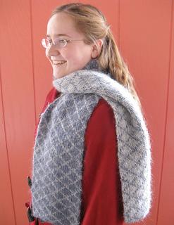 Ravelry: Diamond Double-Knit Reversible Scarf pattern by ...