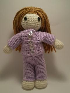 Amigurumi Clothes Pattern : Ravelry: Amigurumi Playtime Sally Doll w/ Clothes pattern ...