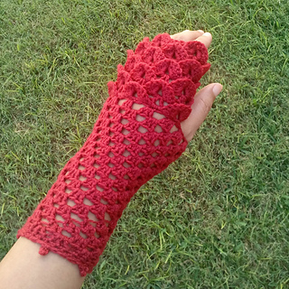 Ravelry: Crocodile Fingerless Gloves pattern by R. W.