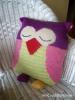 Owl Cushion Knitting Pattern : Ravelry: Owl cushion pattern by Amanda Berry