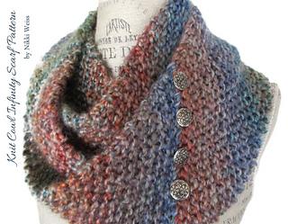 Knit Scarf Pattern Homespun Yarn : Ravelry: Homespun Knit Cowl Infinity Scarf pattern by ...