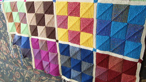 Ravelry: Nine Patch Mitered Square Afghan pattern by Nancy ...