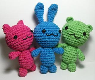 Ravelry: Alien Hominid, Chibi Kawaii Cat, Bunny and Bear ...