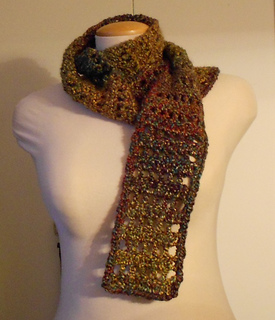 Crochet Pattern For Scarf With Homespun Yarn : Ravelry: Homespun Scarf pattern by Lion Brand Yarn