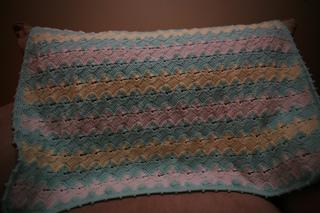 Ravelry Tunisian And Shells Ripple Baby Blanket Pattern