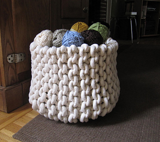 Ravelry Giant Knit Rope Basket Pattern By Cara Corey
