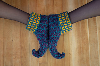 Knitting Pattern For Elf Slippers : Ravelry: Elf Slippers: Knit (archived) pattern by Kj Hay