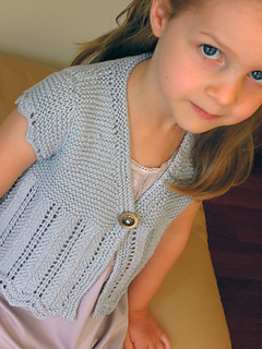 Summer Shrug Knitting Pattern : Ravelry: Girls Bolero Shrug Summer Top - P036 pattern by OGE Knitwear Designs