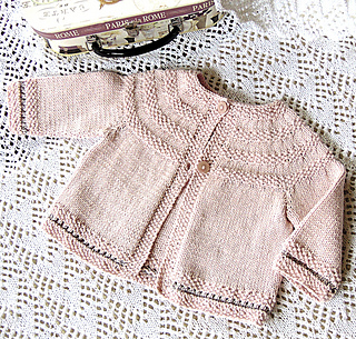 Ravelry: Baby jacket with round yoke and Moss stitch trim P033 pattern by OGE...