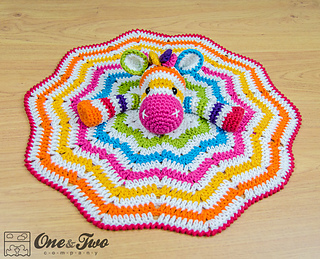 Ravelry: Rainbow Zebra Lovey pattern by Carolina Guzman