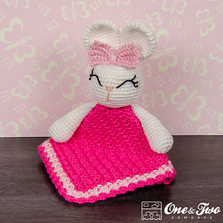 Free Crochet Pattern For Animal Security Blanket : Ravelry: Olivia the Bunny Lovey Security Blanket pattern ...
