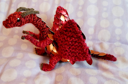 Dragon Dice Bag Crochet Pattern : Ravelry: Scale Mail Dragon pattern by CraftyMutt