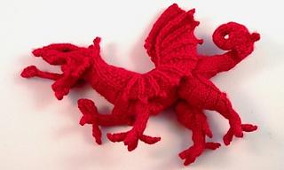 Welsh Dragon Free Crochet Pattern : Ravelry: Y Ddraig Goch The Welsh Dragon pattern by Tony ...