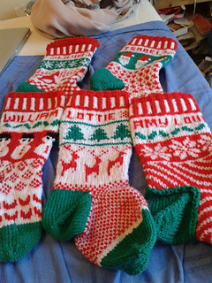 Ravelry: Design and Knit Fabulous Fair Isle Christmas Stockings pattern by Pa...