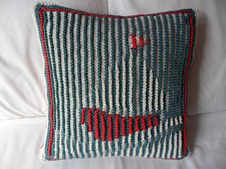 Nautical Cushion Knitting Pattern : Ravelry: Nautical Knit Shadow Pillow pattern by Janice Anderson