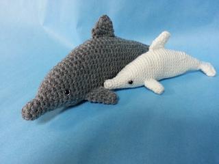 Crochet Dress Pattern For American Girl Doll : Ravelry: Bottlenose Dolphin Amigurumi Realistic Crochet ...
