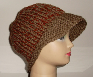 Ravelry: One Piece LOOM KNIT Newsboy Cap pattern by Tracey ...