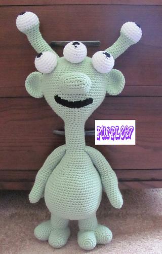 Ravelry Crochet Alien Amigurumi Pattern By Purple27crochet