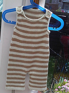 Ravelry Stripey Baby Dungarees Pattern By Becky Smith