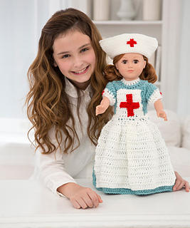 Free Knitting Pattern Nurse Doll : Ravelry: Caring Nurse Doll to Crochet pattern by Rebecca J. Venton