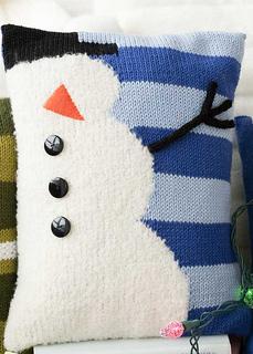Snowman Cushion Knitting Pattern : Ravelry: #37 Snowman Pillow pattern by Renee Lorion