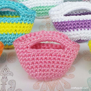 Free Crochet Pattern For Small Tote Bag : Ravelry: Mini Tote Bag pattern by Rhea Papellero