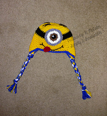 Free Crochet Pattern For Minion Hat And Overalls : Ravelry: Minion Hat and Overall Shorts Set pattern by Ruth ...