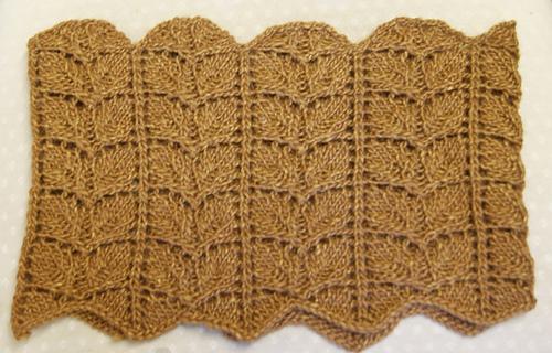 Ravelry: Twin Leaf Lace Cowl pattern by Sandra Oakeshott