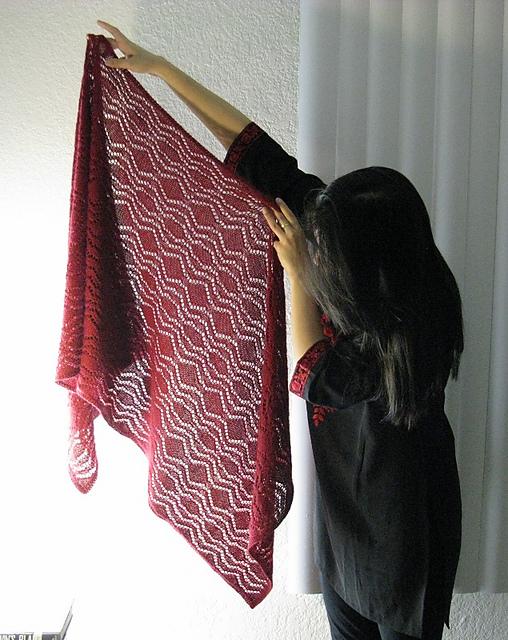 针织蕾丝披肩 - maomao - 我随心动