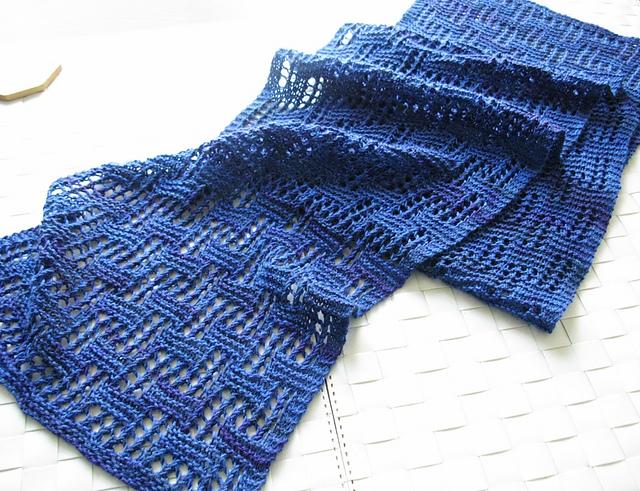 一条简单的几何蕾丝围巾 - maomao - 我随心动