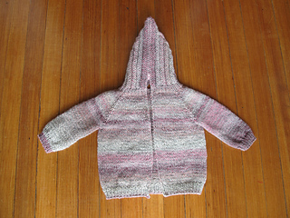 Ravelry: hooded baby sweater with back zipper pattern by ...