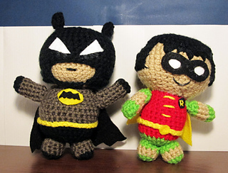 Ravelry: Batman and Robin Amigurumi pattern by Kristen Walker