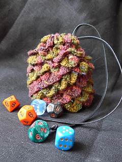 Ravelry: Dragon Egg Dice Bag pattern by Cindy de Vries
