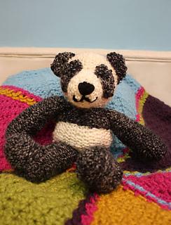 Panda Bear Knitting Pattern : Ravelry: Loom Knit Panda Bear pattern by Noreen Crone-Findlay