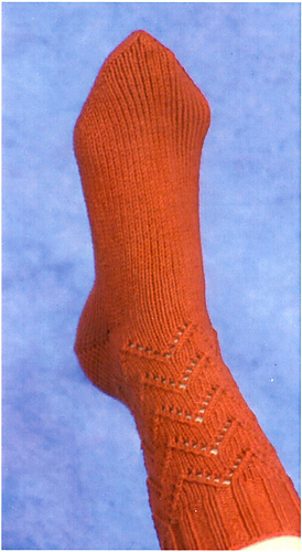Ravelry lace chevron socks pattern by mercedes tarasovich for Mercedes benz socks
