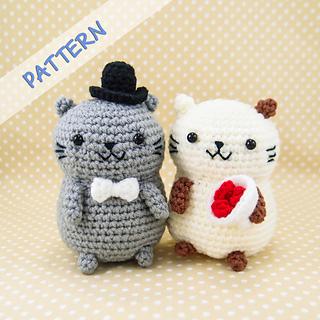 Ravelry Amigurumi Cat : Ravelry: Cat Couple Amigurumi pattern by snacksies snacksies