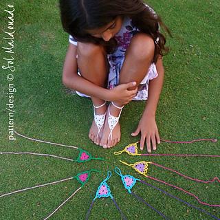 Ravelry Barefoot Sandals Crochet Childs Girl Sandles