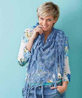 ravelry: s8777 triangular pineapple shawl pattern by