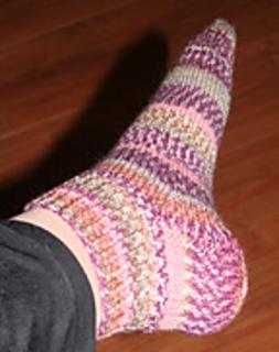 Ravelry: Basic Sock on One Long Circular Needle pattern by Edie Eckman
