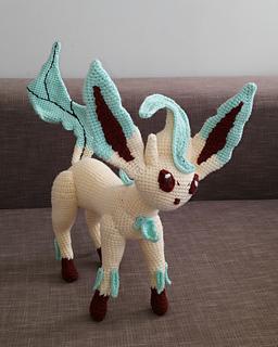 Amigurumi Crochet Pattern Etsy : Ravelry: Leafeon Pokemon (Eevee evolution) pattern by ...