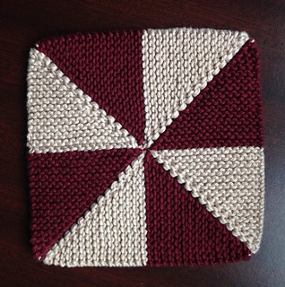 Pinwheel Knitting Pattern : Ravelry: Pinwheel Dishcloth pattern by Patricia Jared