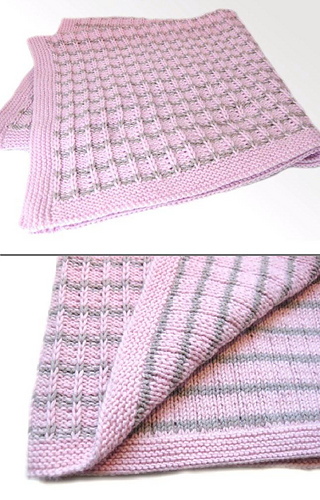 Slip Stitch Knitting Baby Blanket Pattern : Ravelry: Slip Stitch Baby Blanket pattern by String Yarns