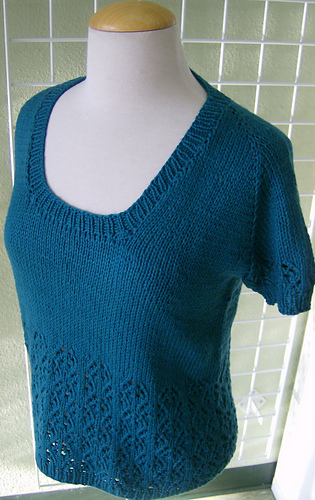 Ravelry Top Down Lace T Shirt Pattern By Vera Sanon