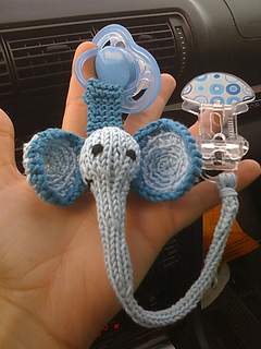Ravelry Pacifier Clips Elephant Pattern By Susan B Anderson