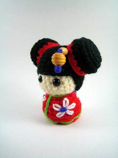Bb Dolls Crochet Pattern : Ravelry: Chibi Kokeshi Doll Amigurumi pattern by Susan ...