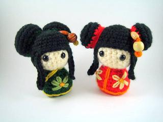 Amigurumi Kokeshi Doll Pattern : Chinese doll amigurumi pattern ~ kalulu for .