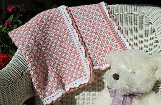 Ravelry: Hugs & Kisses Baby Blanket pattern by Tanis Galik
